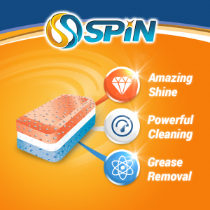 SPIN All in 1 Dishwasher Tablets, 28 Tablets – Made in Germany